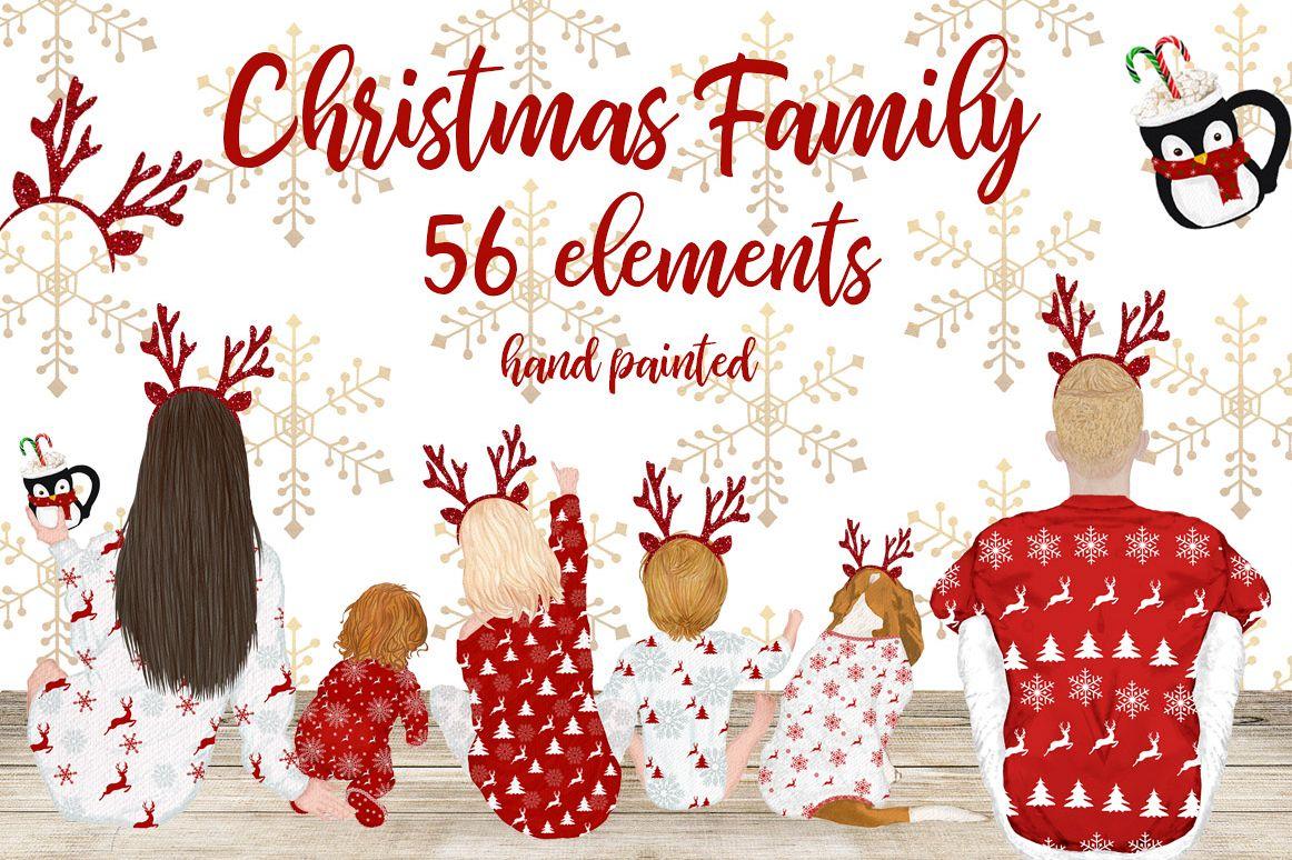 Christmas clipart,Christmas Family movie night, Xmas pajamas (1162 x 774 Pixel)