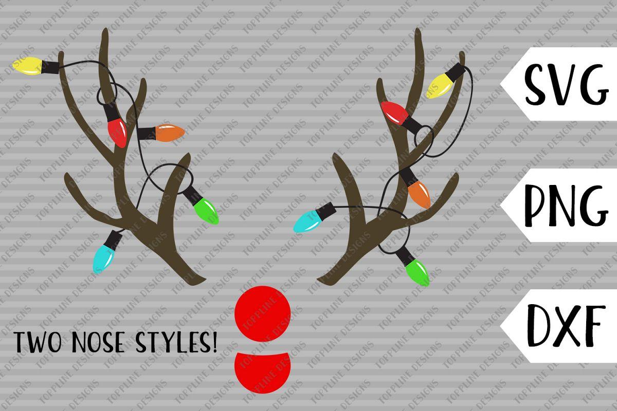 Christmas Bulb Png.Christmas Antlers Svg Png Dxf Christmas Lights Bulb Light String