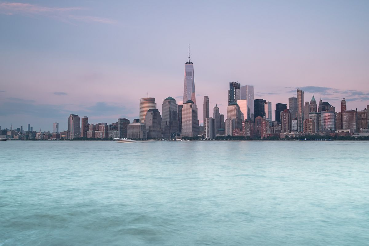 Cityscape view during sunset New York example image 1