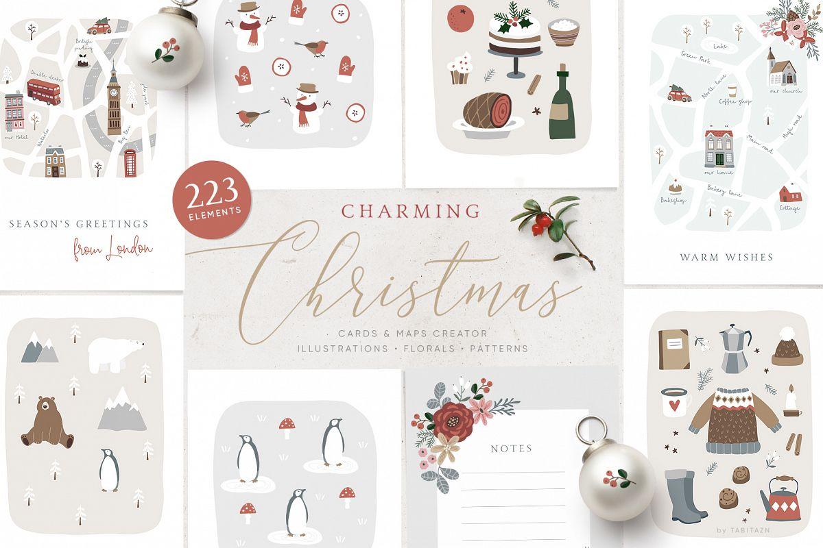 Charming Christmas card & map creator example image 1