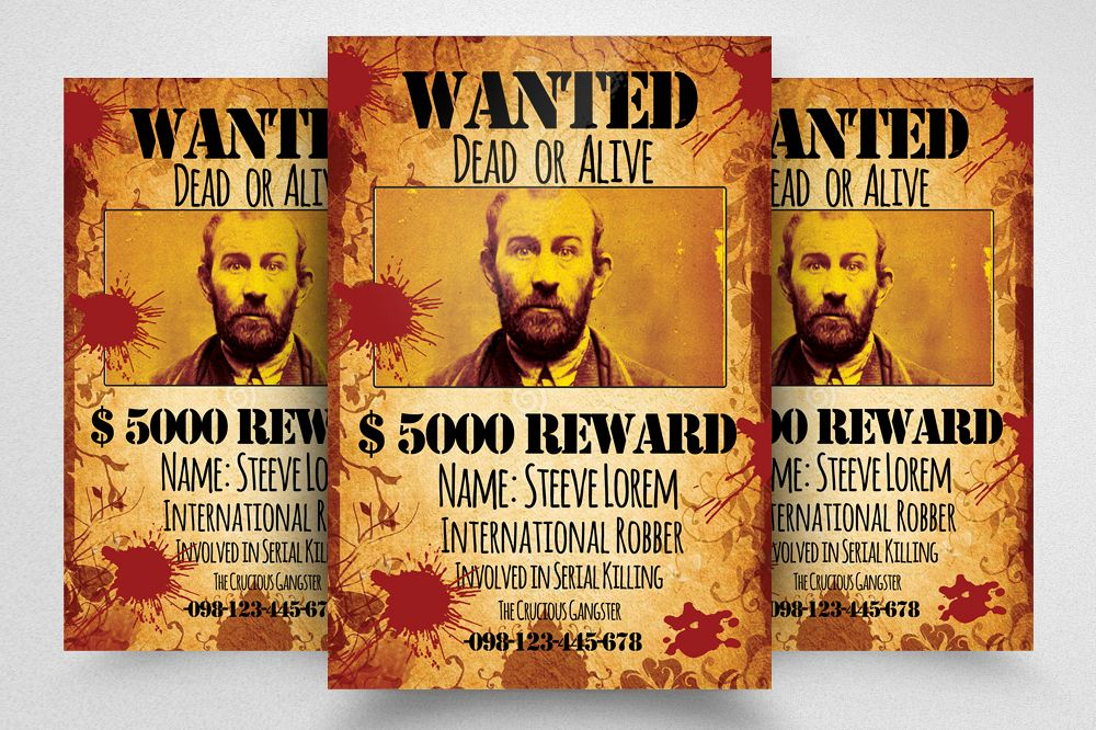 wanted dead or alive poster template free.html