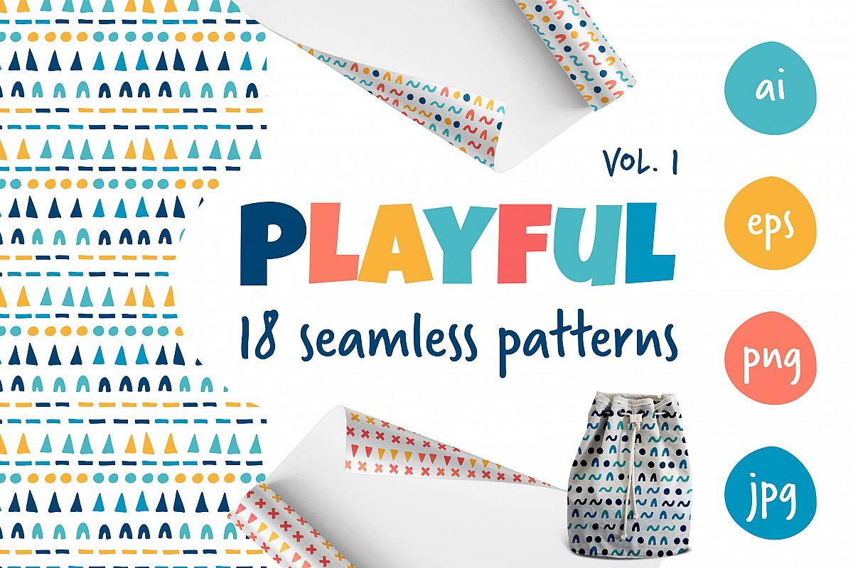 Playful pattern collection vol.1 example image 1