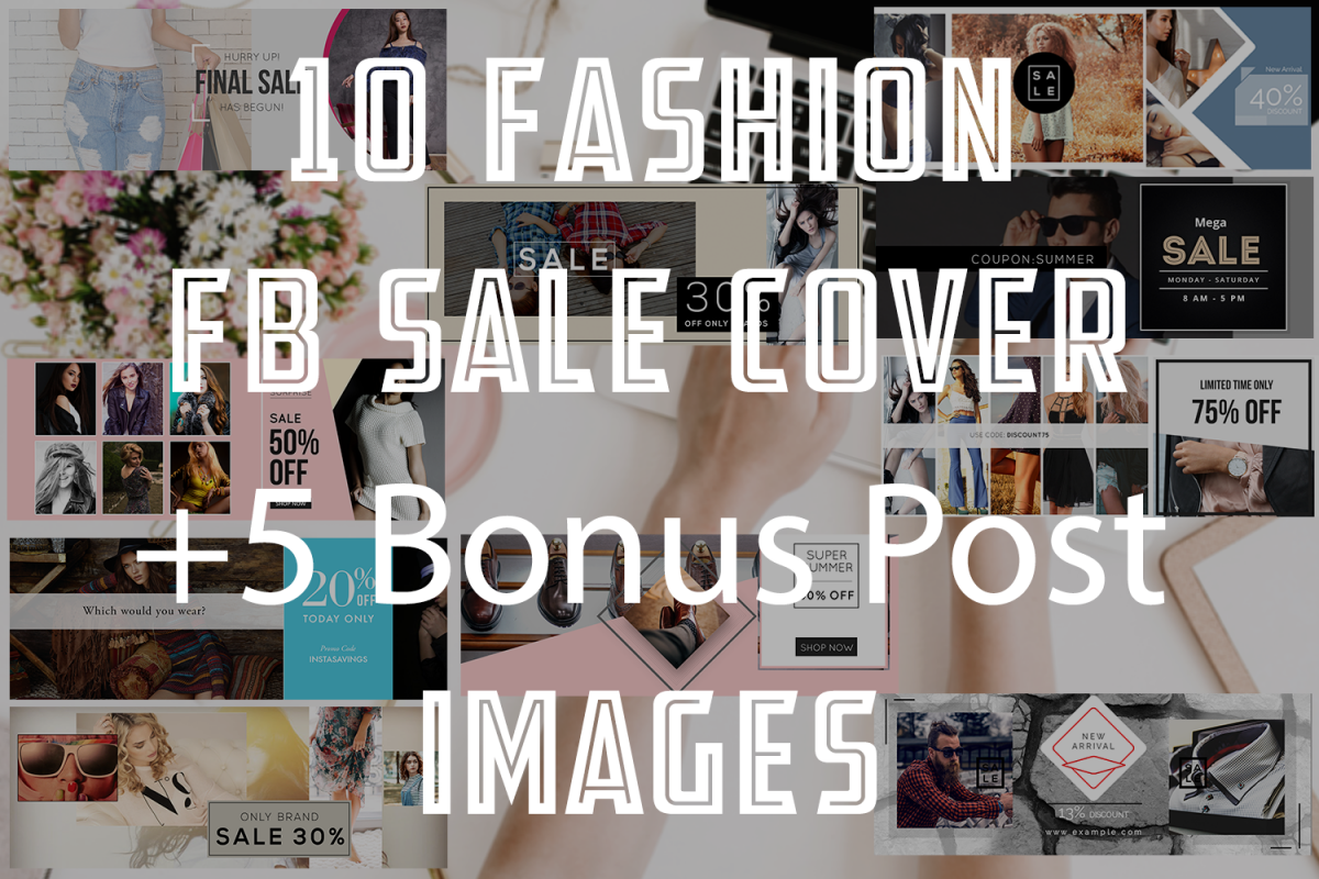 10 Fashion Fb sale Cover example image 1