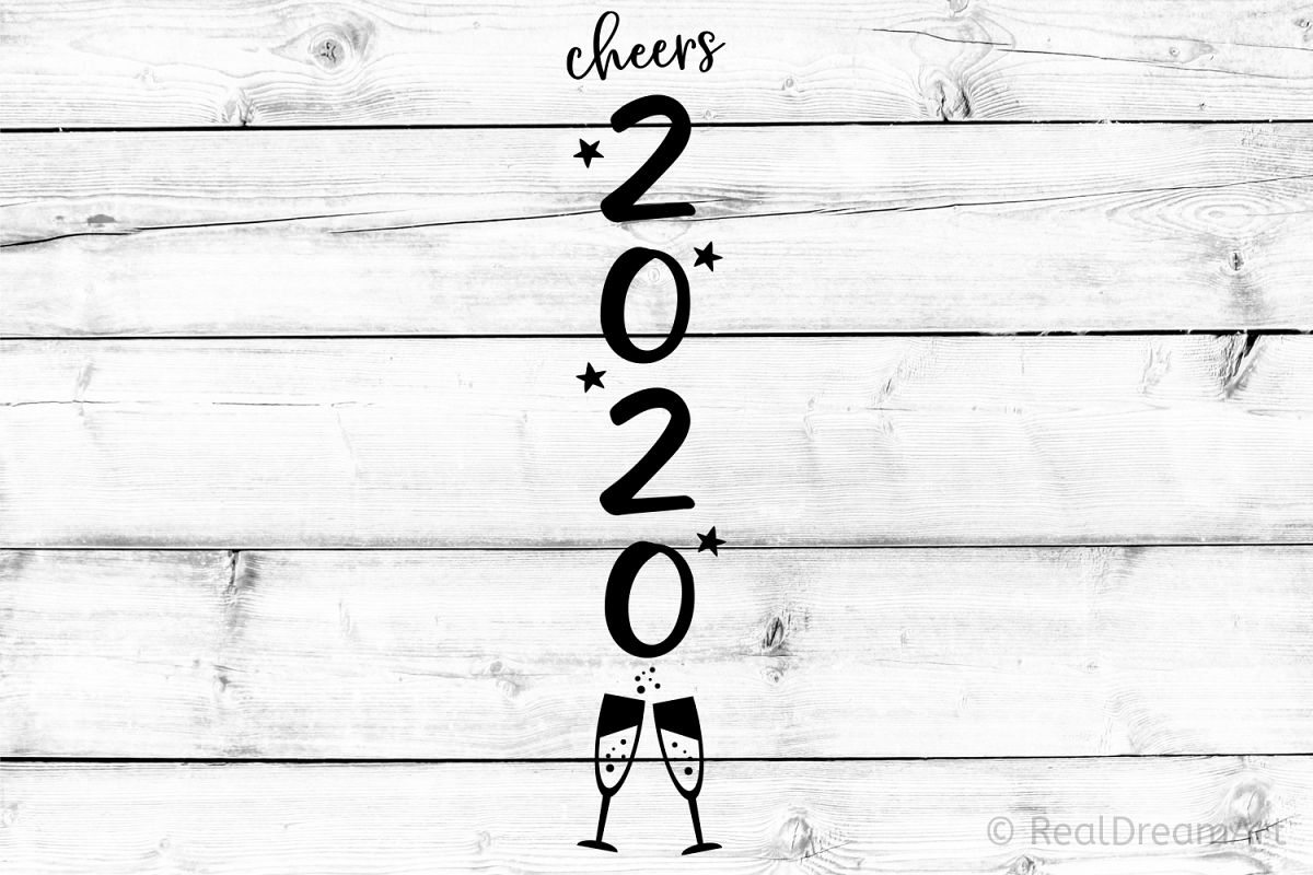 Cheers 2020 Porch Sign SVG, DXF, PNG, EPS example image 1