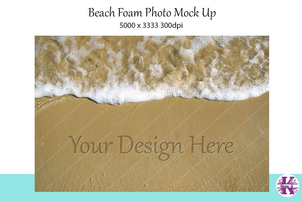 Beach Foam photo Mock Up example image 1