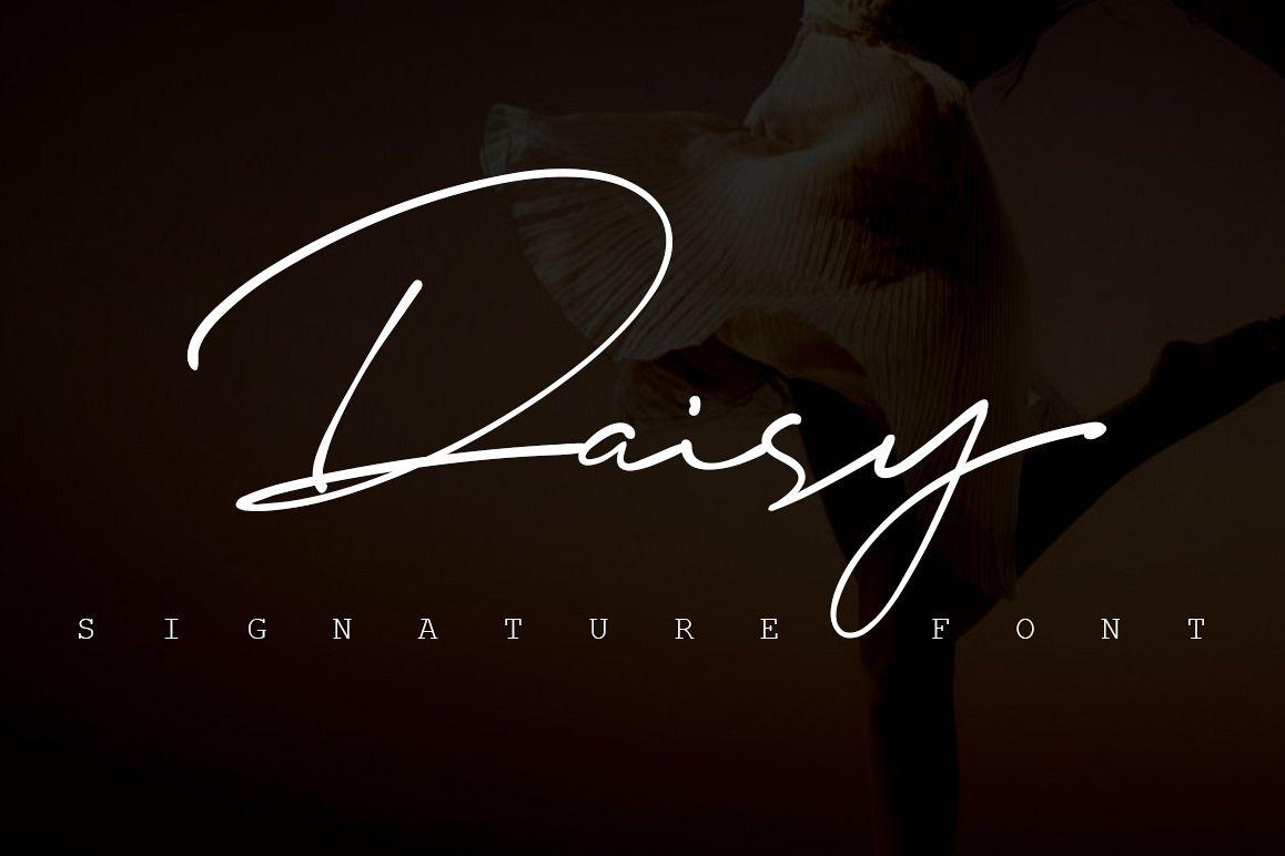 Daisy Signature font example image 1