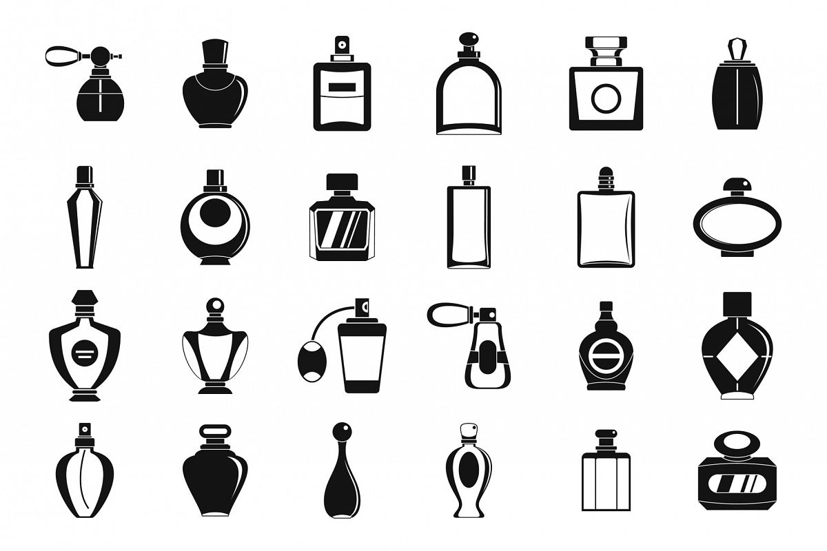 Perfume icon set, simple style example image 1