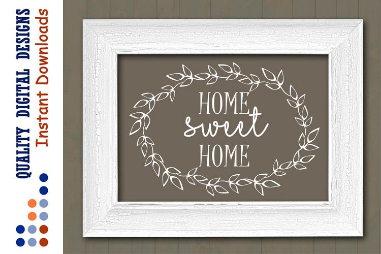 Home sweet home sign svg files sayings Ranch decor Rustic example image 1