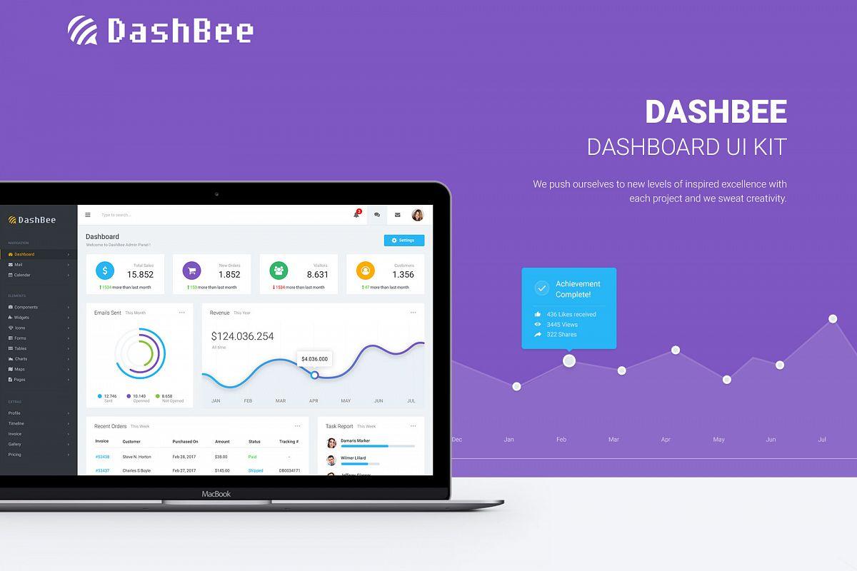 DashBee - Dashboard UI Kit example image 1
