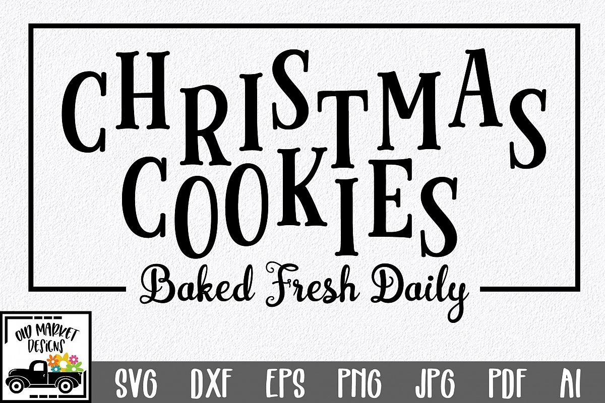Christmas SVG Cut File - Christmas Cookies SVG DXF PNG EPS example image 1