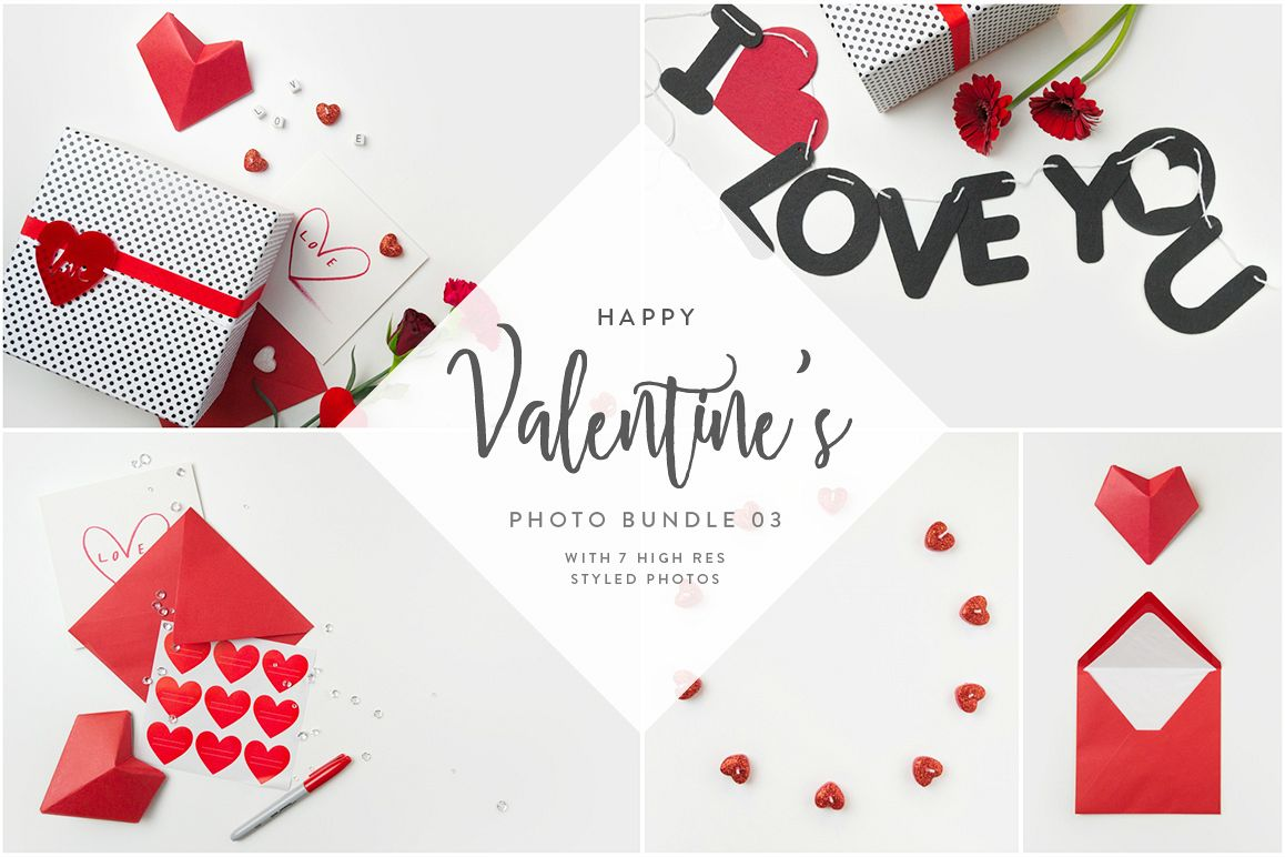 Valentine's Styled Photo Bundle - Red example image 1