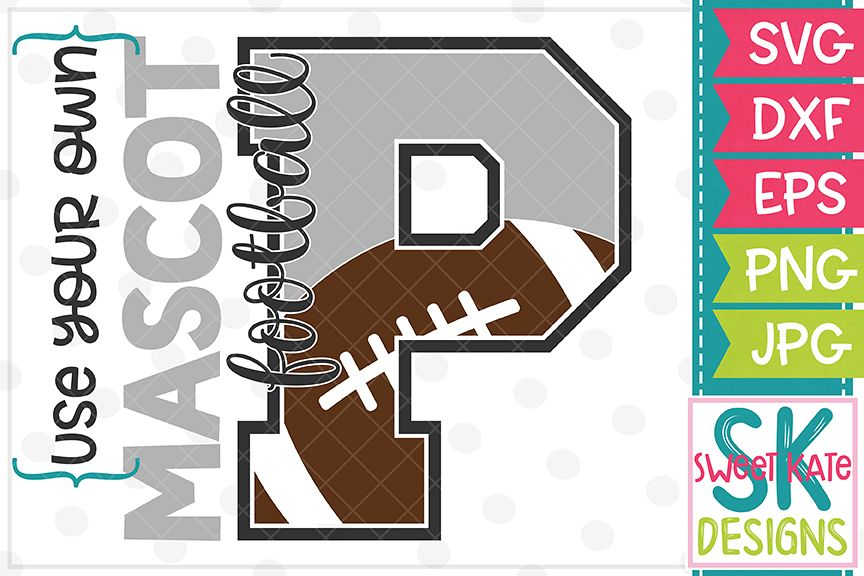 Your Own Mascot P Football SVG DXF EPS PNG JPG example image 1