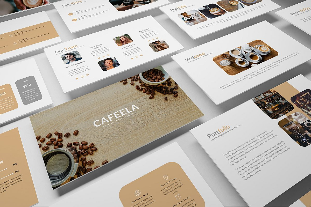 Cafeela Google Slide Template