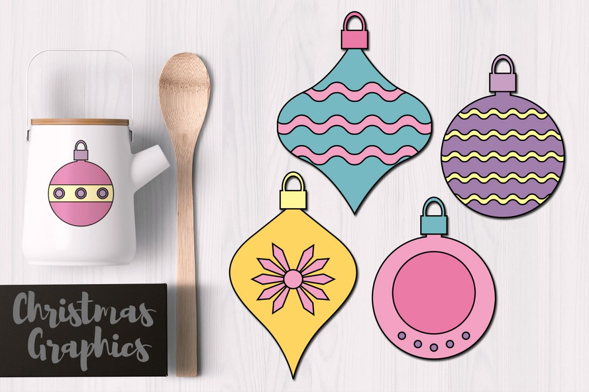 Pastel Christmas Ornaments.Simple Christmas Ornaments Pastel Colors