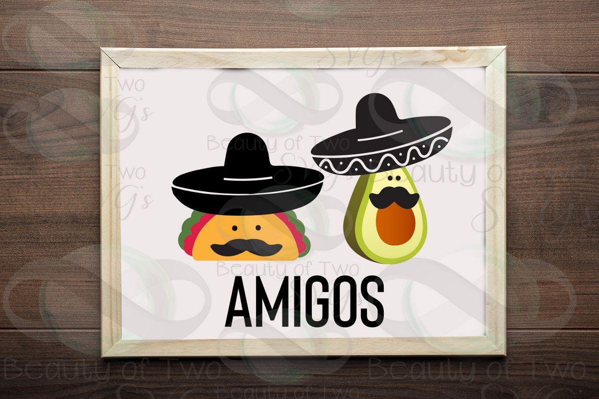 Cinco de Mayo amigos svg & png, avocado svg, taco svg example image 1