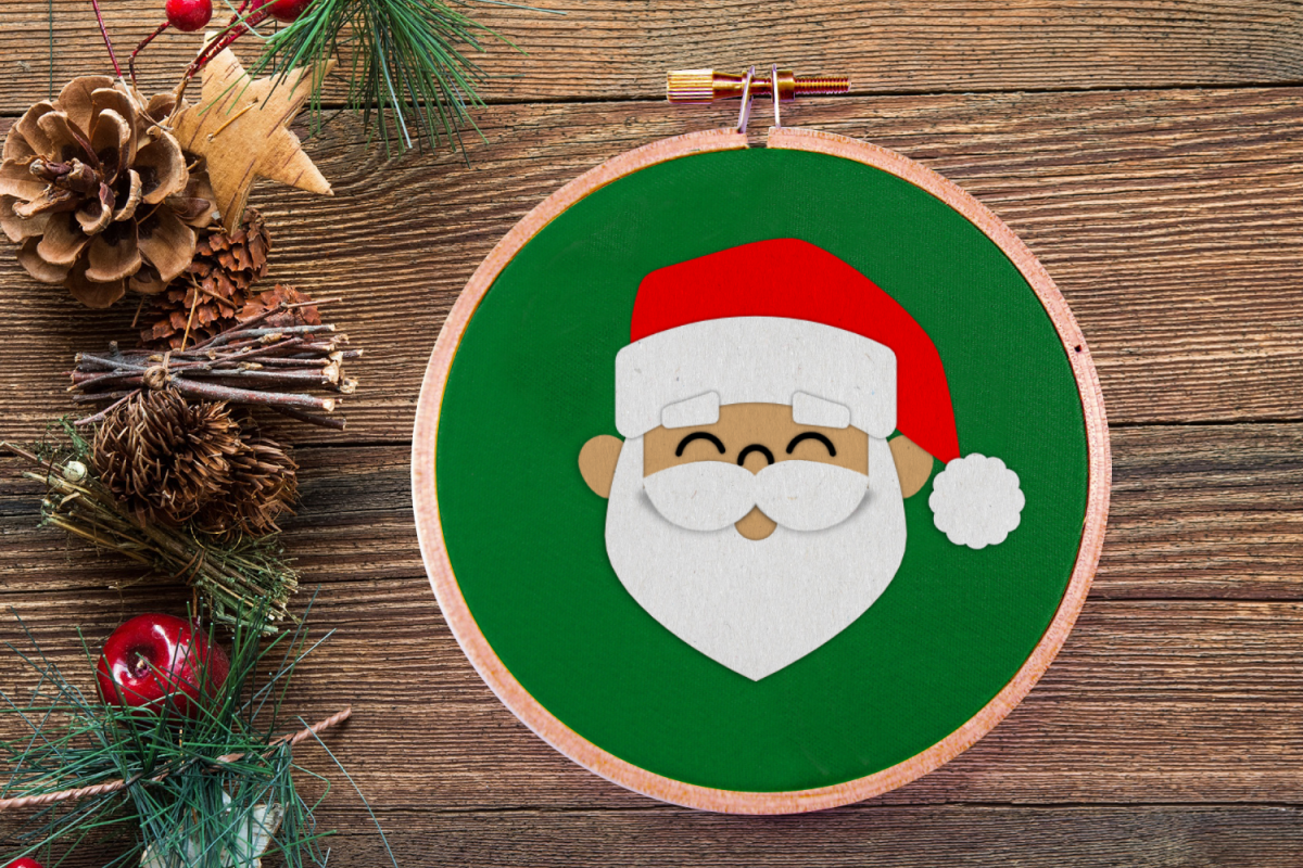 Santa Face Christmas SVG File example image 1