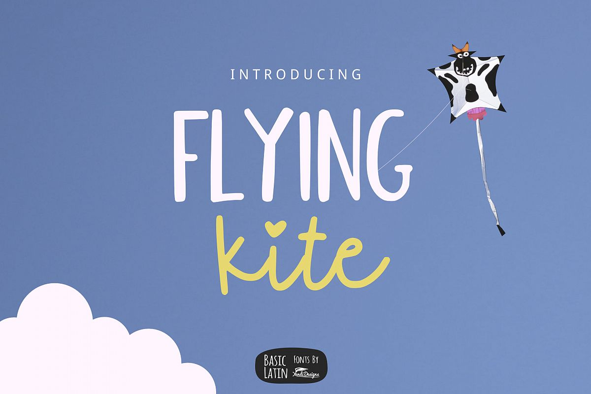 Flying Kite Font example image 1