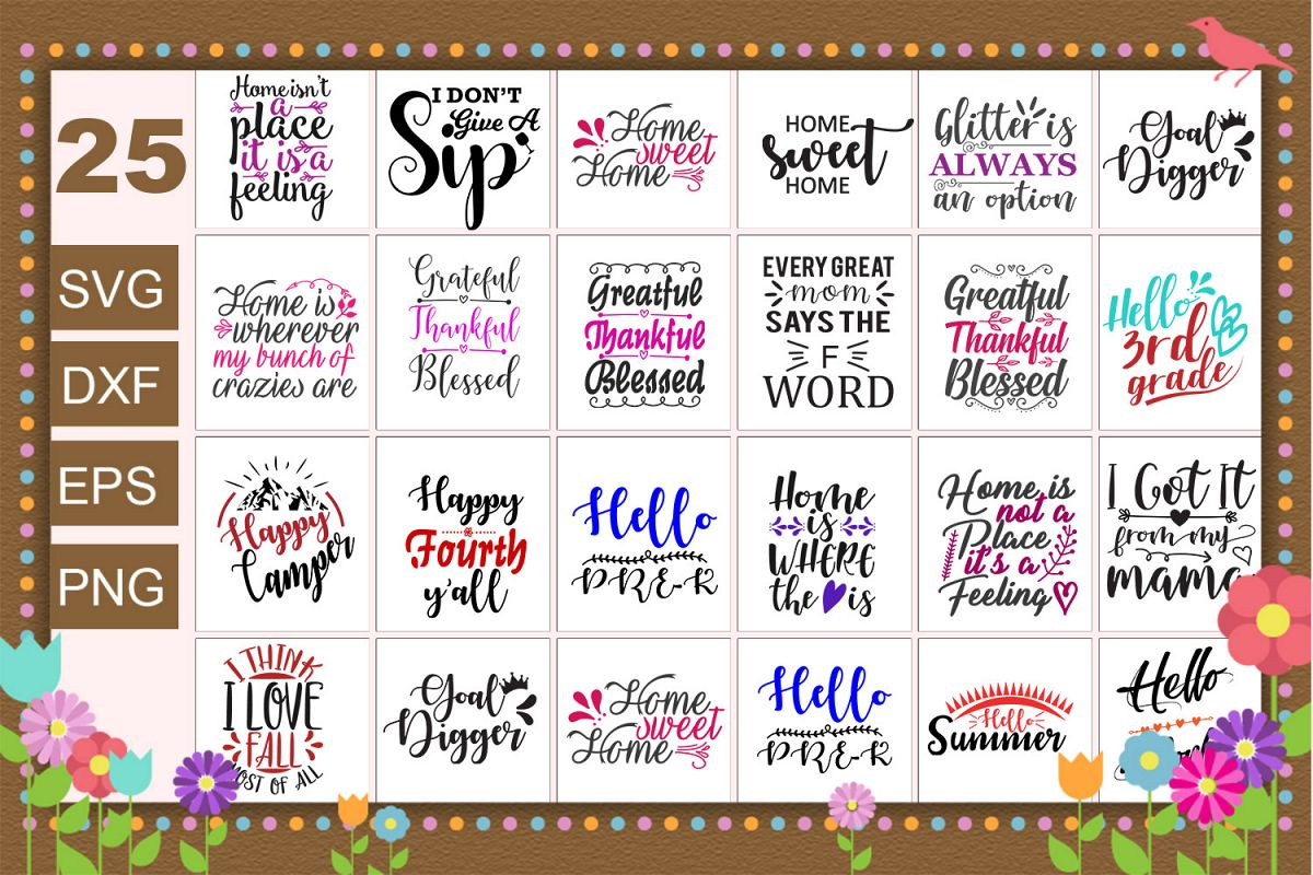 25 Quotes sayings svg Bundle example image 1