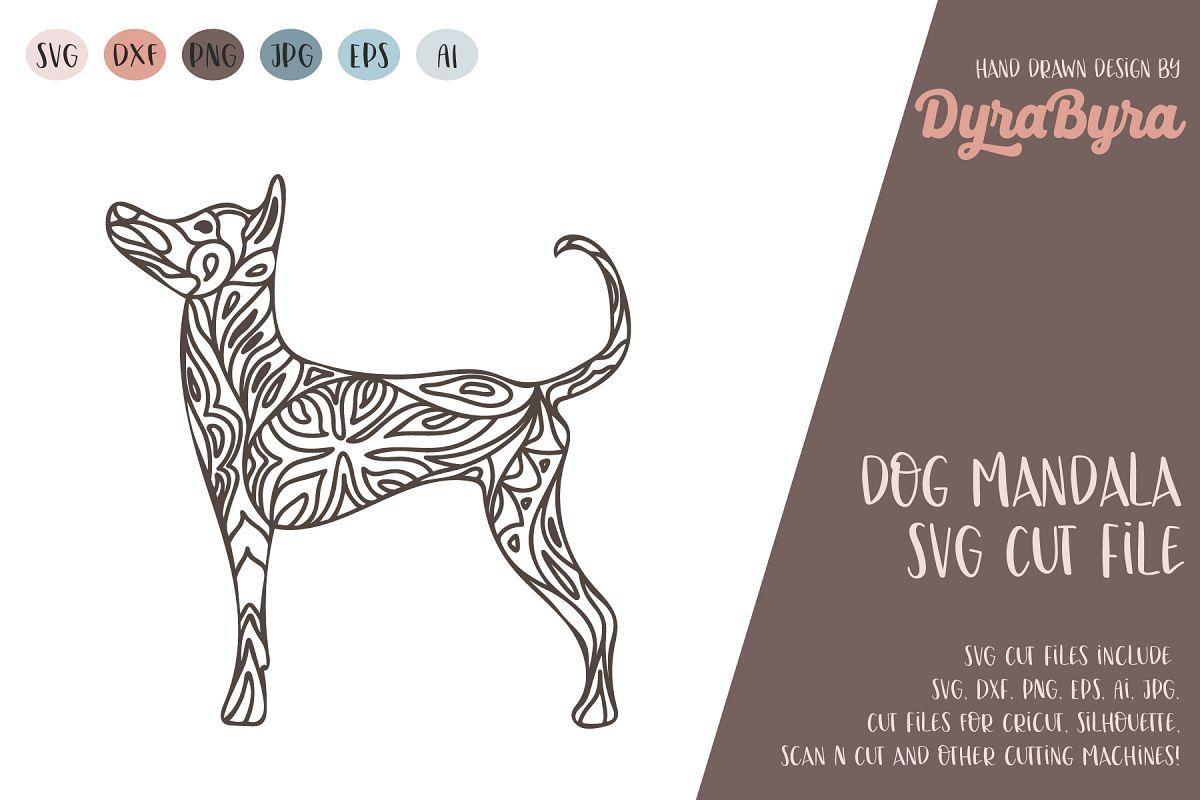 Dog Mandala SVG / Dog SVG / Zentangle SVG / Boho SVG example image 1