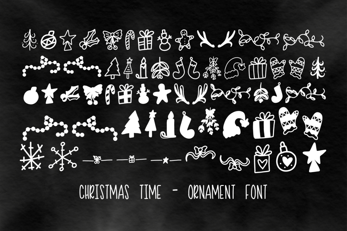 Christmas Time - Ornament Font example image 1