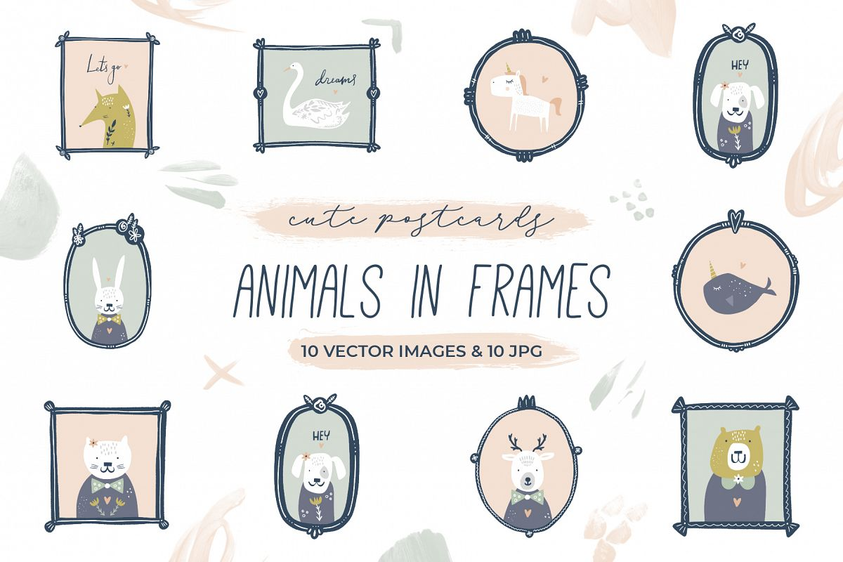 Nursery animals clip art example image 1