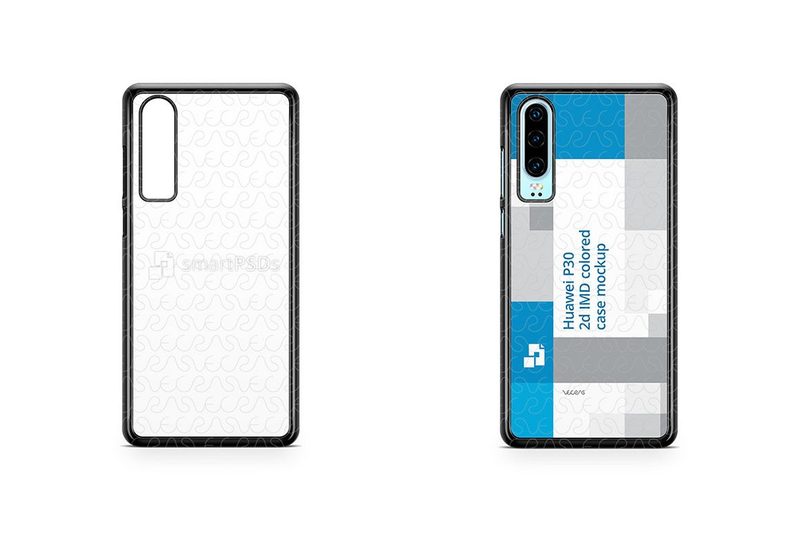 Huawei P30 2d PC Colored Case Design Mockup 2019 example image 1
