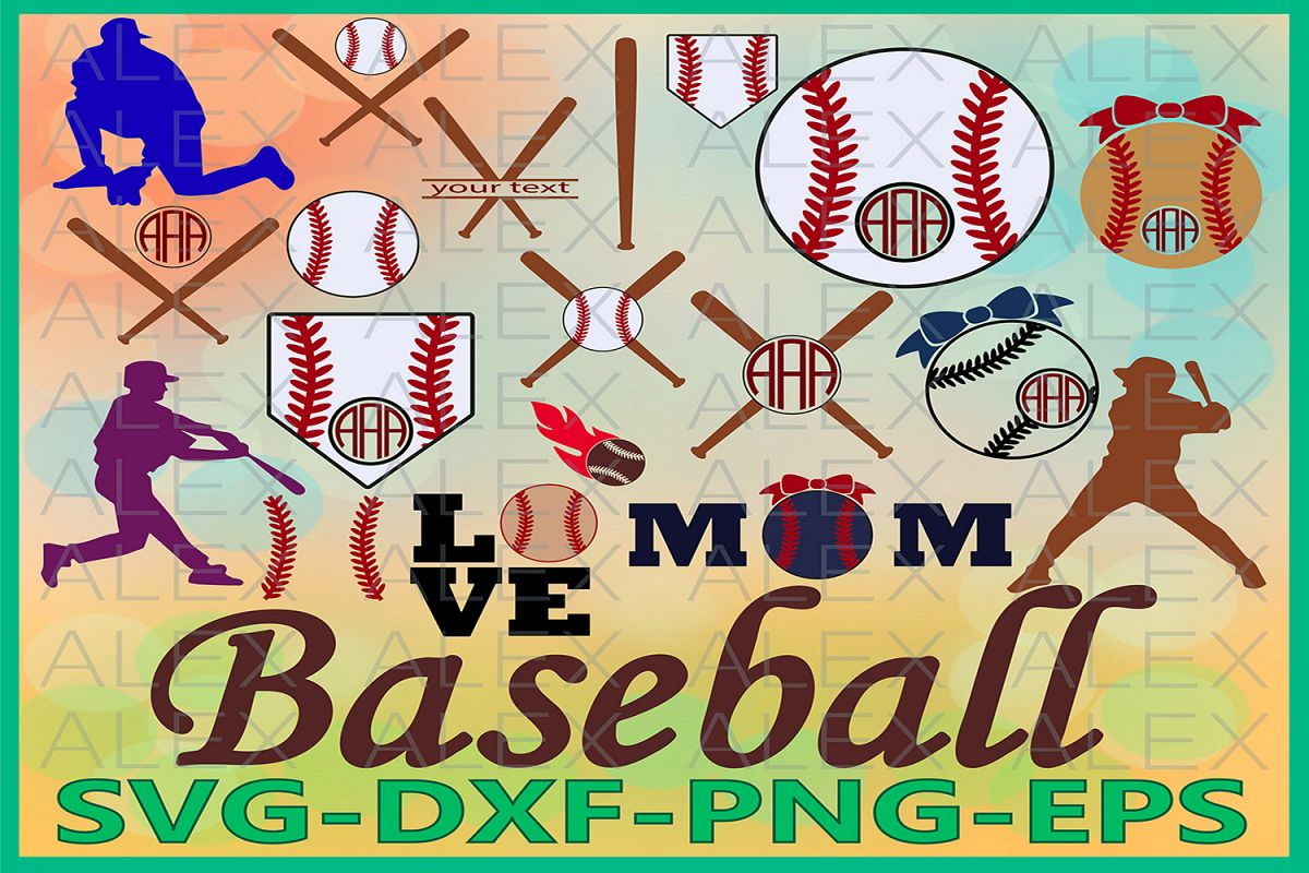 Baseball Monogram Svg, Baseball SVG, Monogram Baseball Cut example image 1