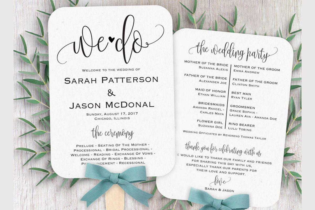 Wedding program fan