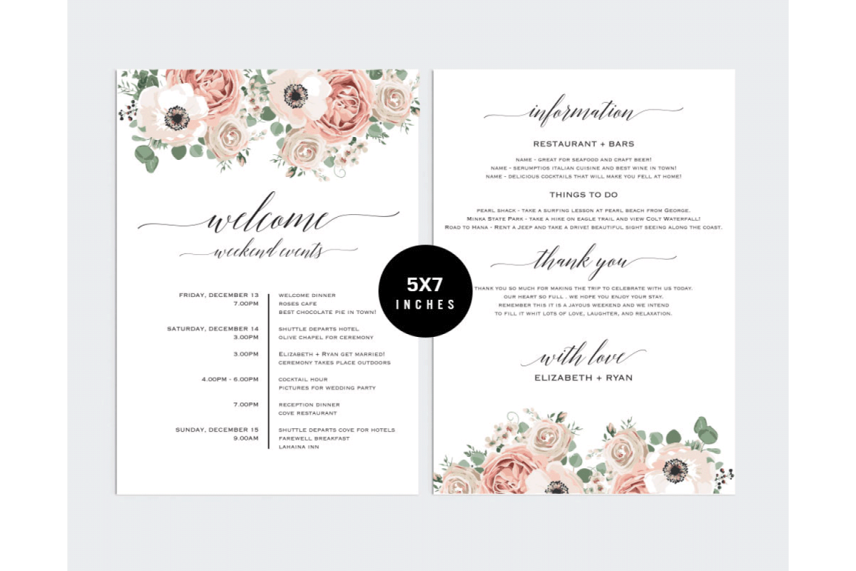 Wedding Itinerary Template PCC_5