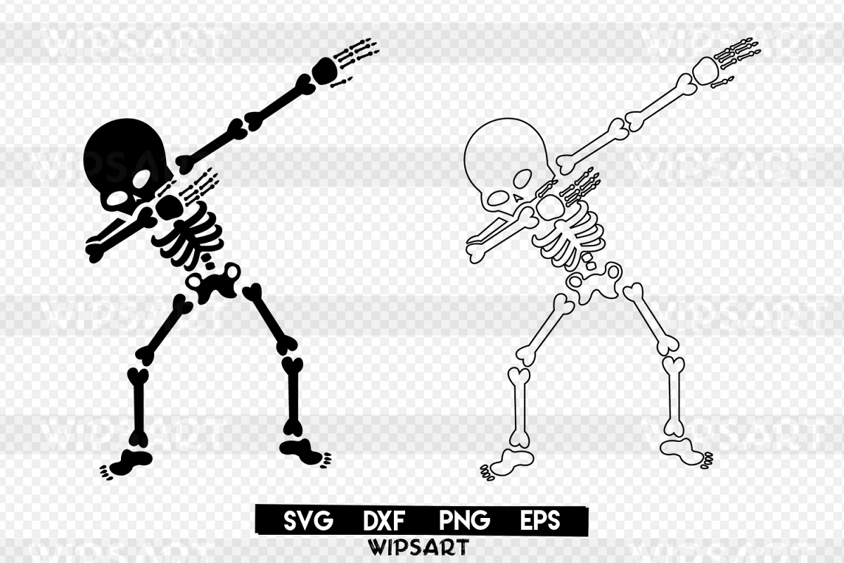 Skeleton dabbing, skeleton halloween, s | Design Bundles