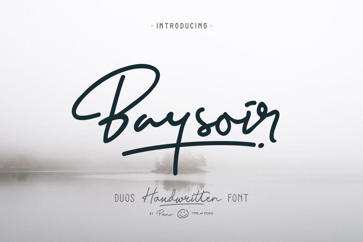 Baysoir Duo Handwritten Free Texture example image 1