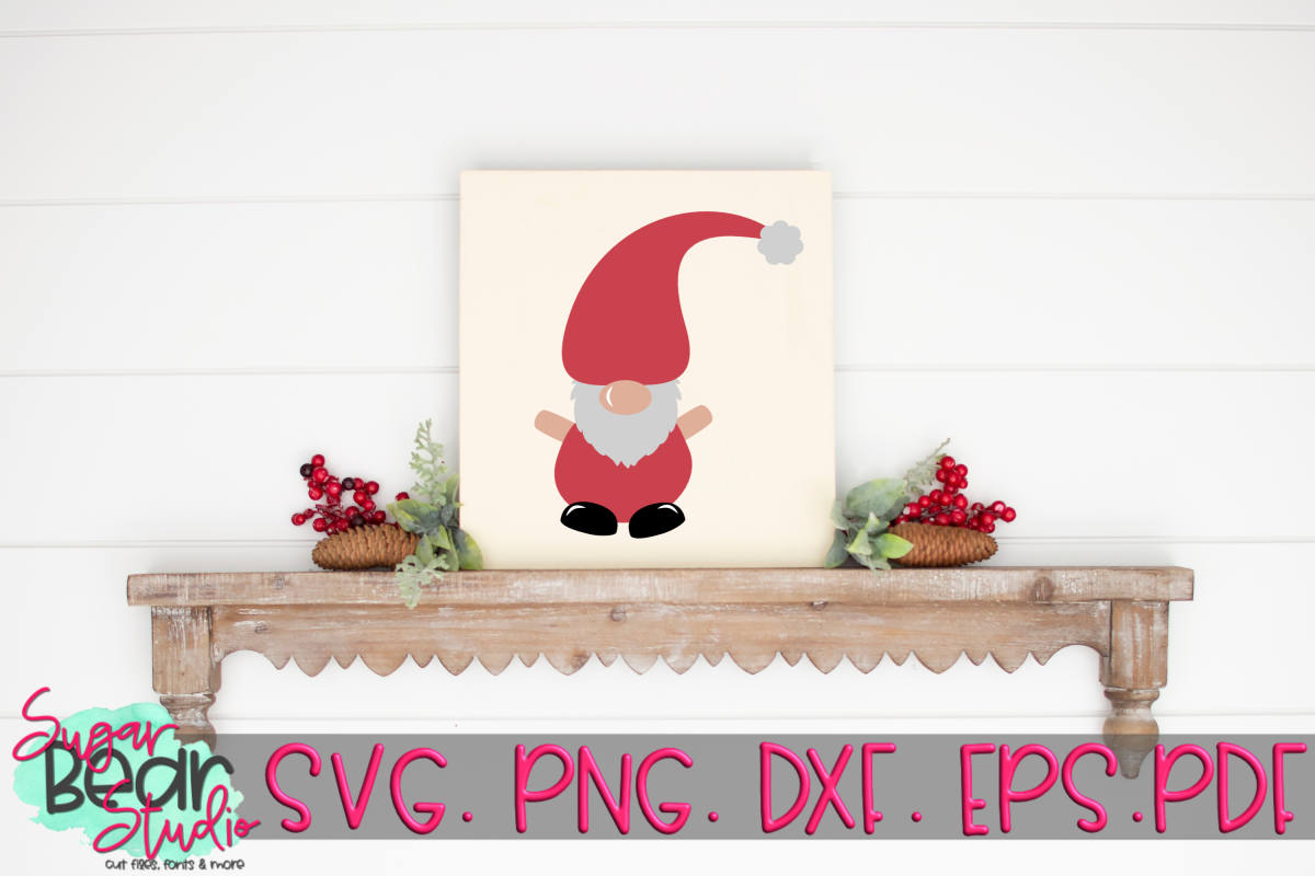 Santa Gnome - A Christmas Gnome SVG example image 1