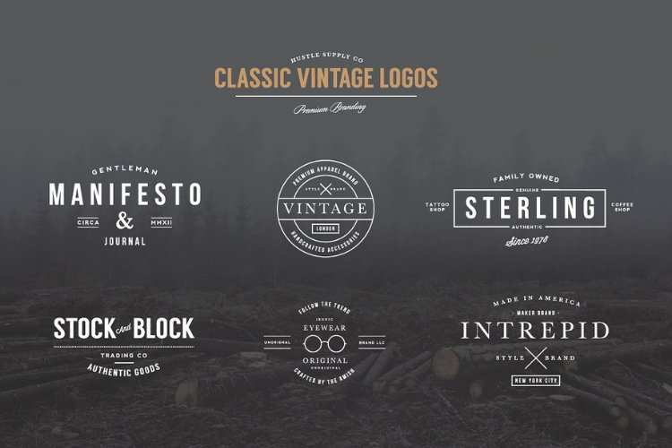 Classic Vintage Logos example image 1