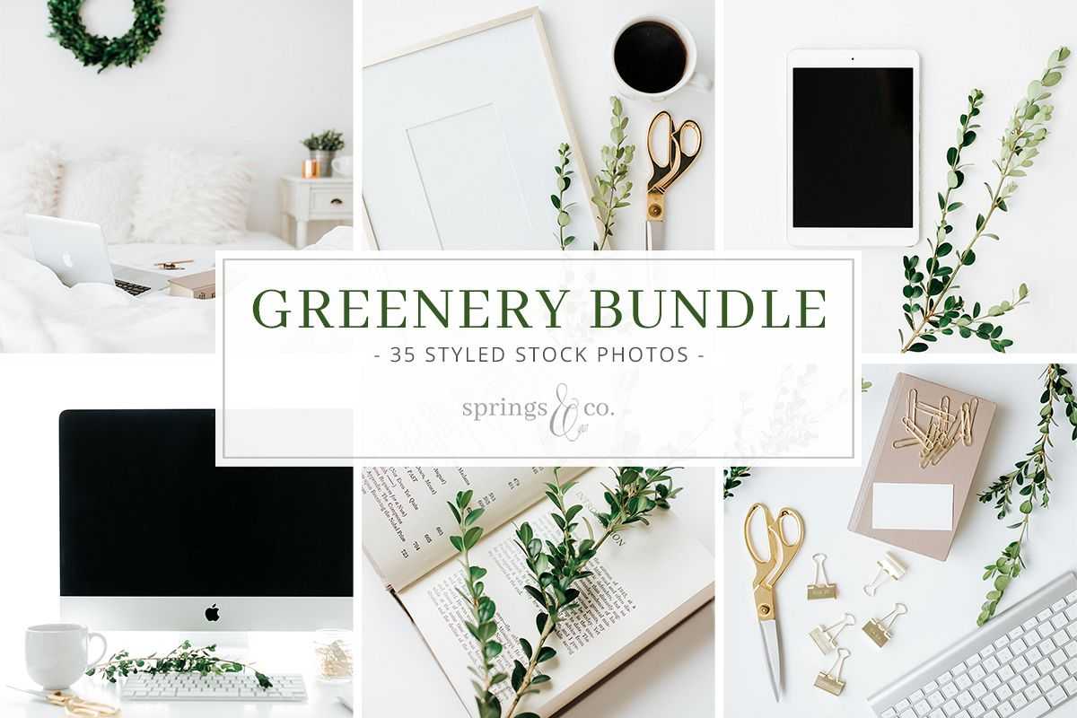 Greenery Styled Stock Photo Bundle example image 1