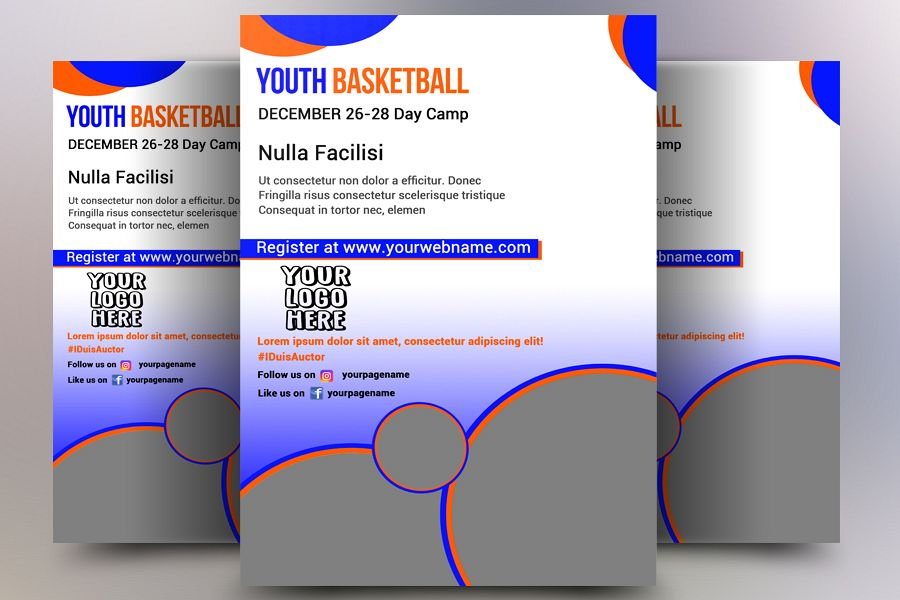 Youth Basketball Flyer example image 1