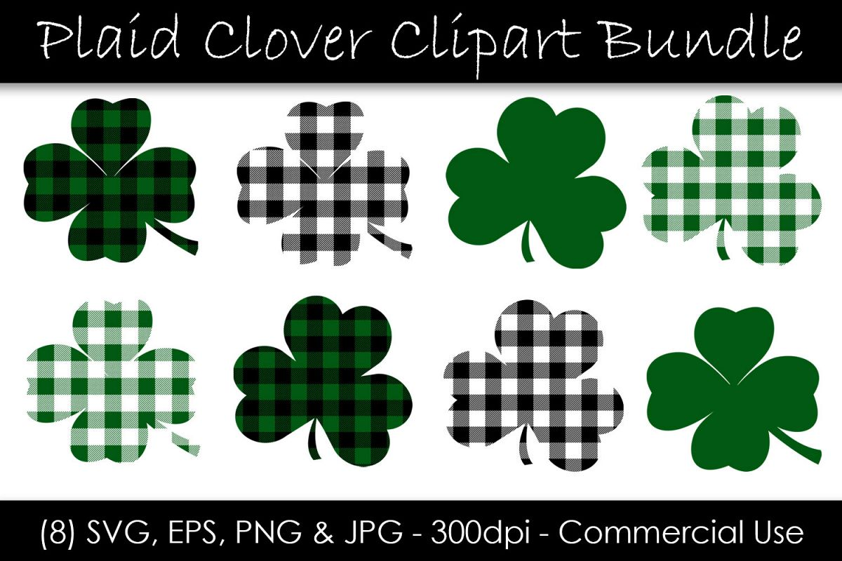 Buffalo Check St. Patrick's Day Shamrocks and Clovers example image 1