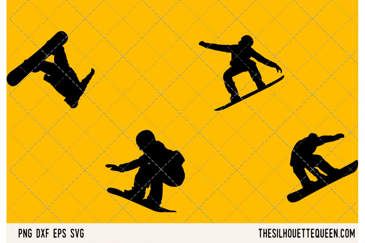 Snowboarding SVG example image 1
