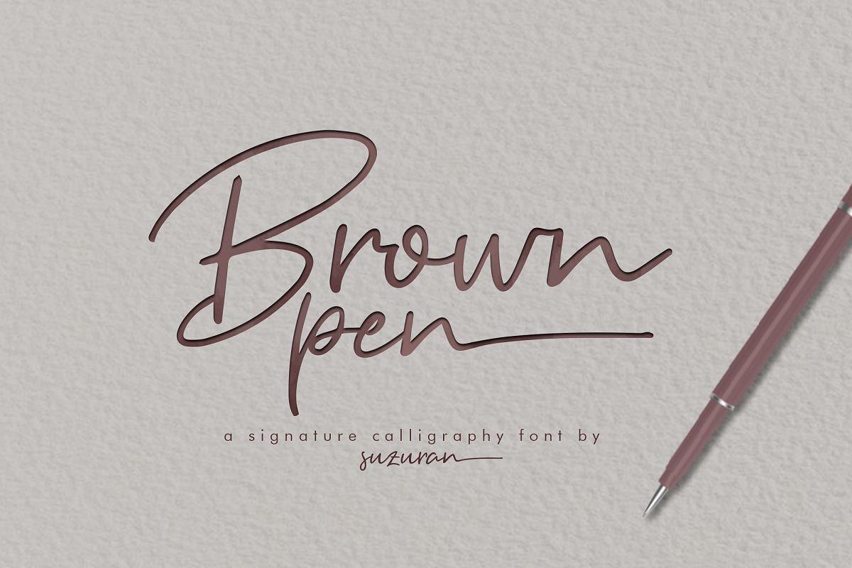 Brown Pen Script example image 1