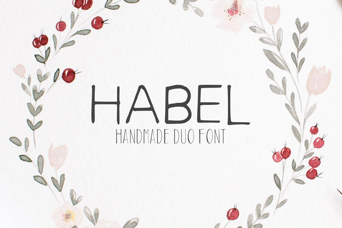 Habel Handmade Duo Font + Bonus Free example image 1