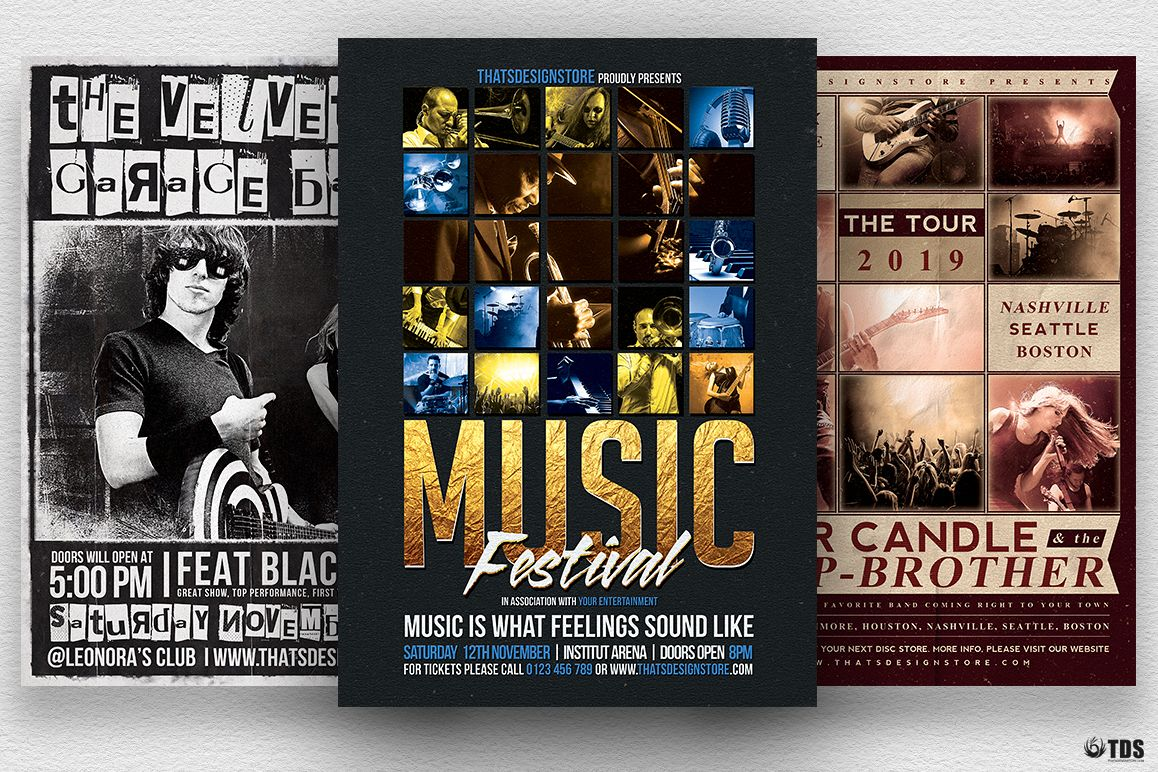 Live Band Flyer Bundle V2 example image 1