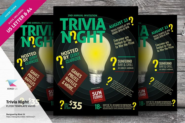 Trivia Night Flyer Template vol.03 example image 1