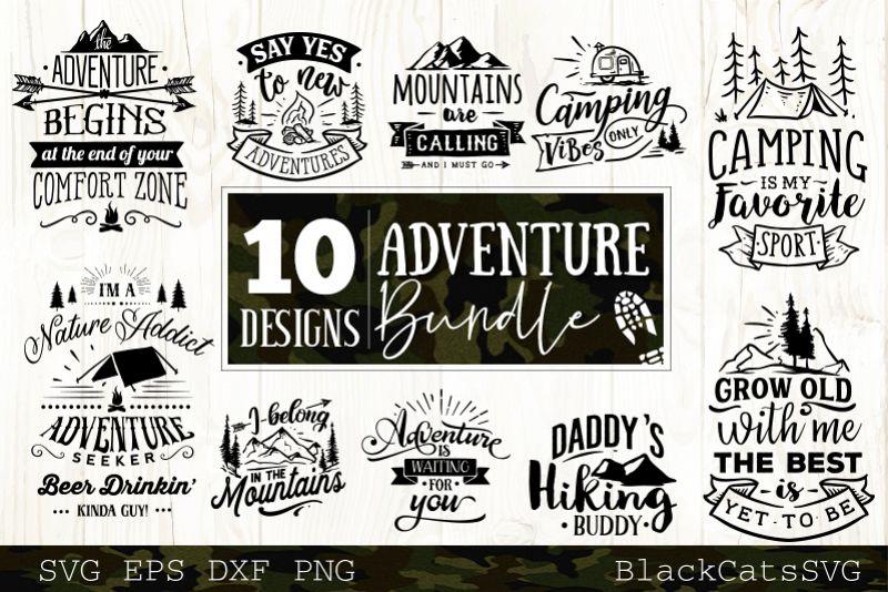 Adventure SVG bundle 10 designs Mountains SVG bundle vol 4 example image 1