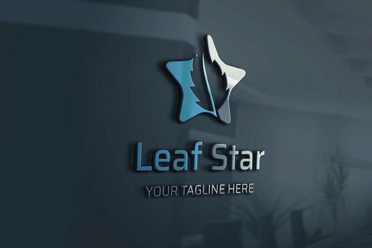 Oak leaf in Star Logo example image 1