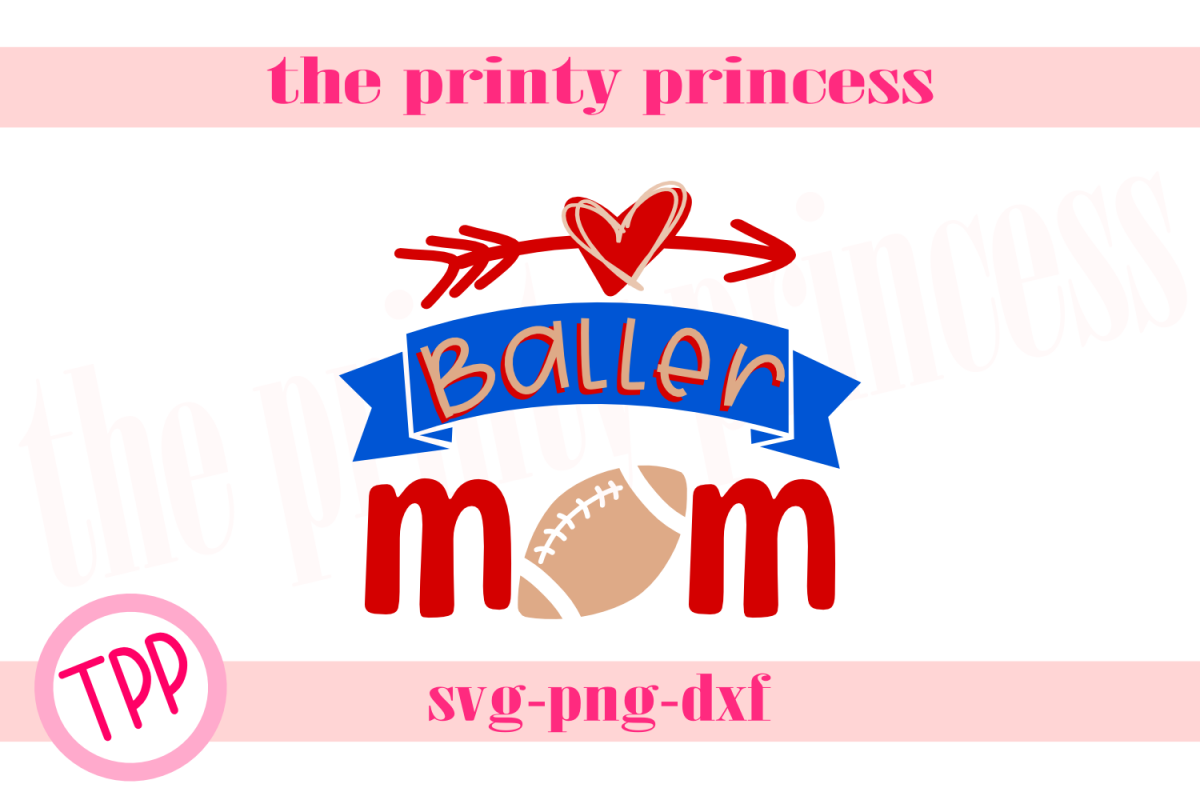 Football Baller Mom svg, Football svg Footballdesign example image 1