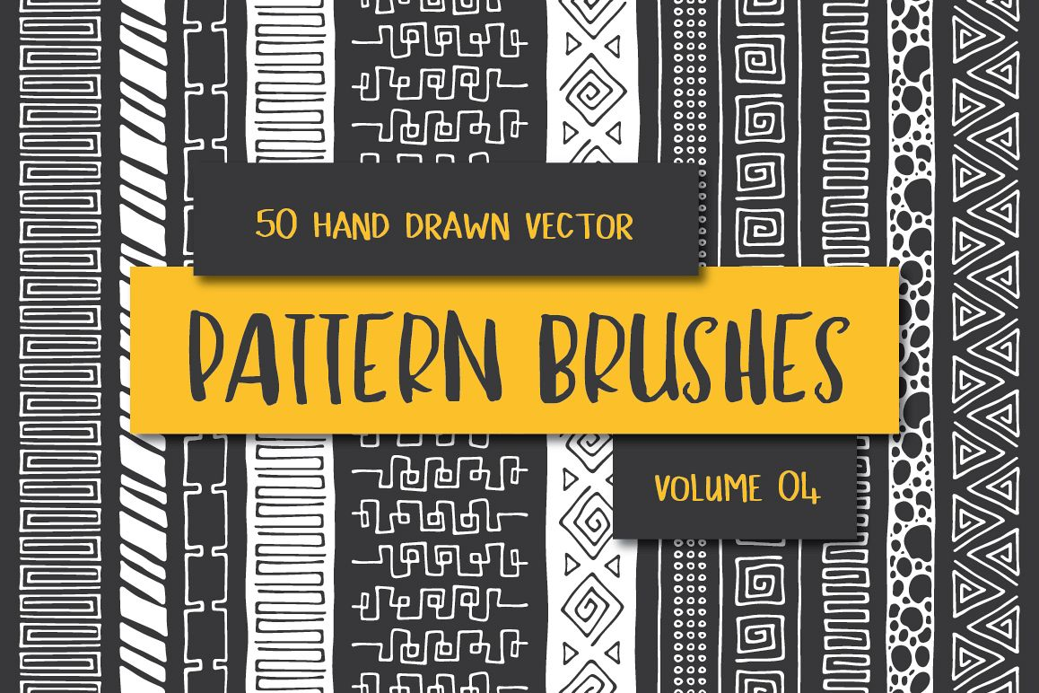 Hand Drawn Pattern Brushes Vol. 04 example image 1