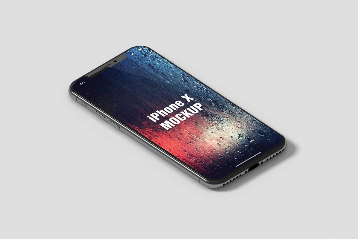 Isometric iPhone X Mockup example image 1