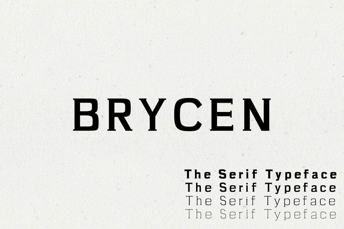 Brycen Serif Premium Font Family example image 1