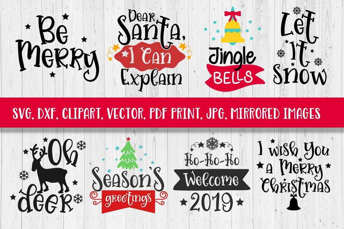 svg christmas sayings bundle svg dxf clipart vector print