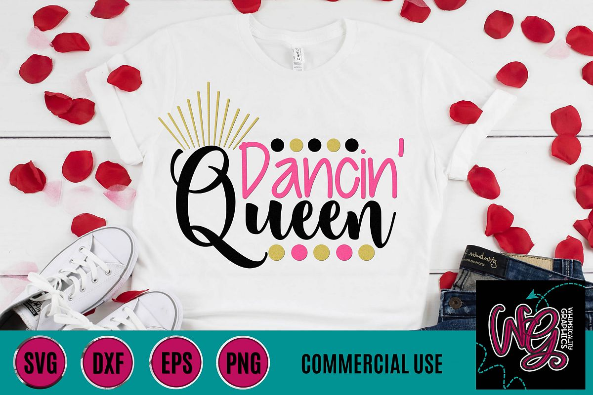 Dancin' Queen SVG DXF PNG EPS Commercial example image 1
