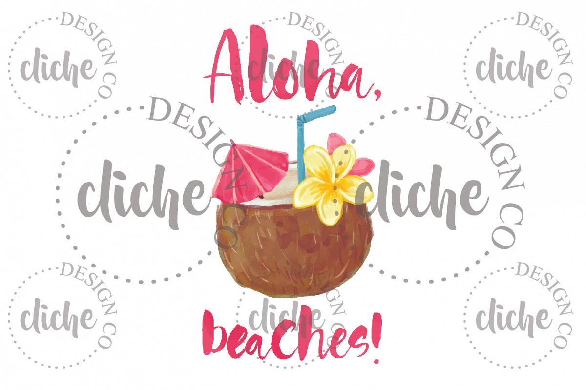 Aloha Summer Sublimation Design example image 1